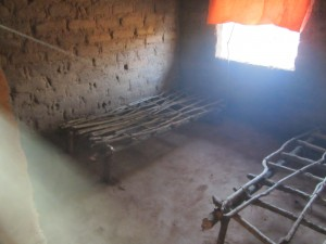Hospital beds in a remote village hospital, DR Congo