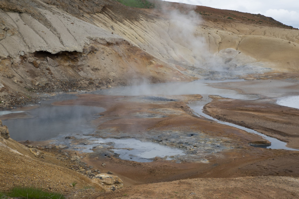 Seltun geothermal area in the southwest rift zone