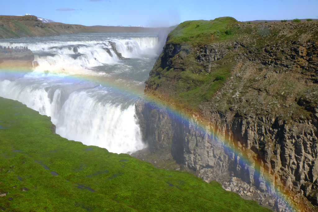 Photo 3. Gulfoss waterfall, canyon carved by paleo-floods plucking through the columnar basalts