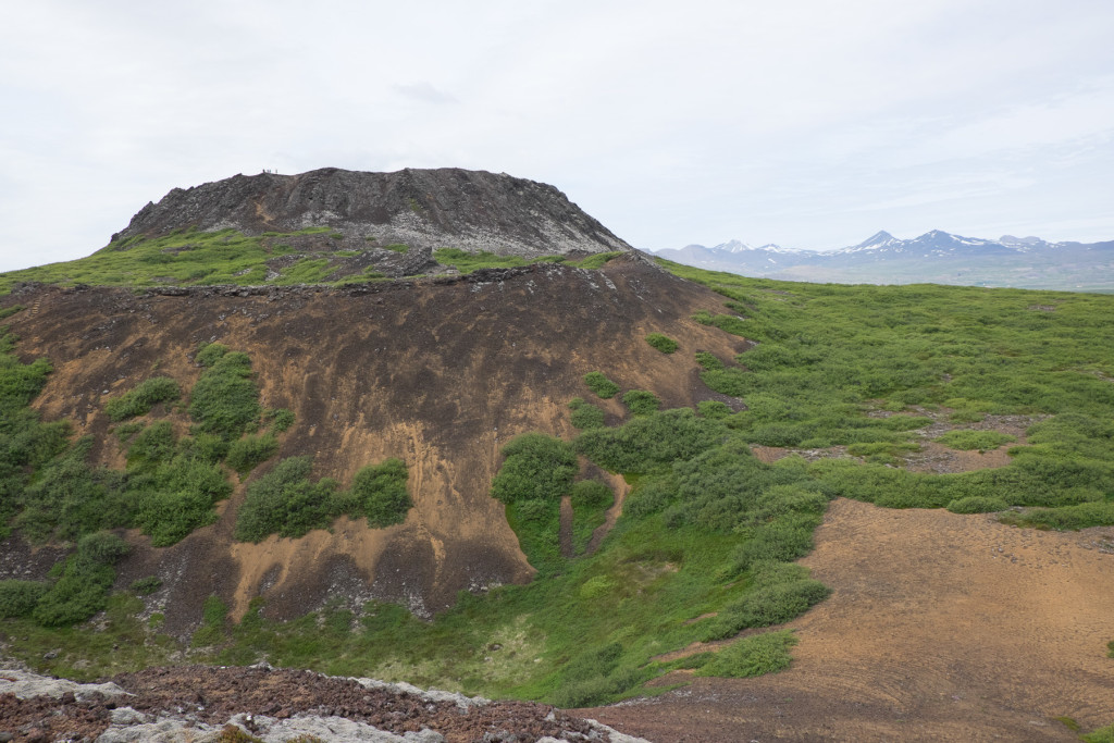 Figure 4. Eldborg spatter cone, 60m high and 180m wide. Last eruption 5 - 8 kya.